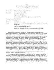 PG 8540 - Association for Behavior Analysis International