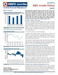 RBI: Credit Policy - HDFC Securities