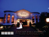 Cascade Fine Catering… …Elegance & Ambience