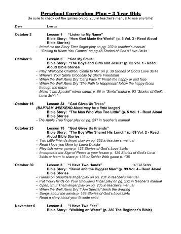 preschool 3 year old curriculum preschool curriculum map 3 and 4 year program 836