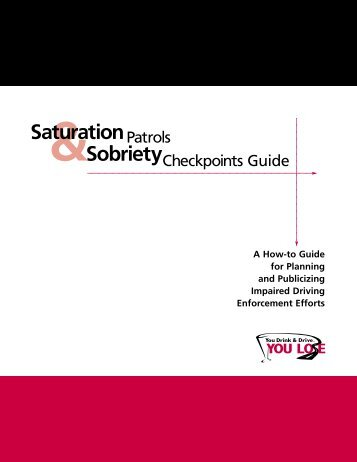 Sobriety Checkpoint Guide - National Association of State Boating ...
