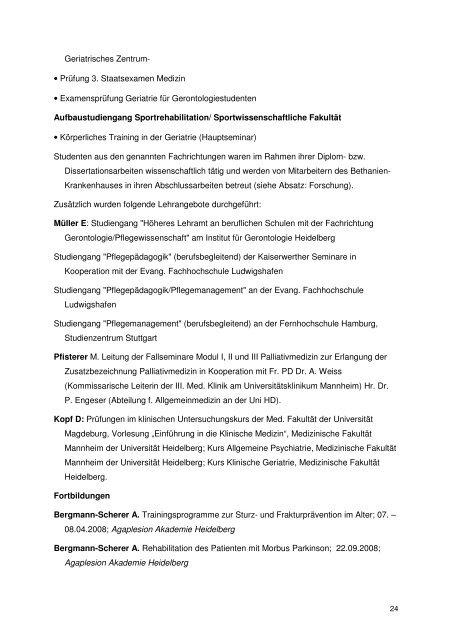 Jahresbericht 2008 - AGAPLESION BETHANIEN KRANKENHAUS ...