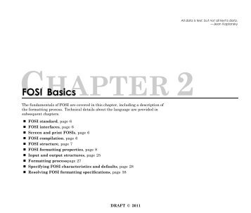 Chapter 2: FOSI Basics