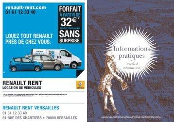 Informations pratiques - Office de tourisme de Versailles