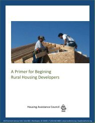 Primer for Beginning Rural Housing Developers, A