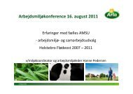 Arbejdsmiljøkonference 16. august 2011 - AKON