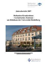 Jahresbericht 2007 - AGAPLESION BETHANIEN KRANKENHAUS ...