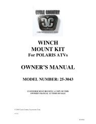 owners manual cc25-3043 - winch mount kit pol - Schuurman B.V.