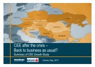 CEE after the crisis – B k t b i  l? Back to business ... - Roland Berger