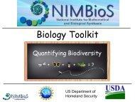 Biodiversity - NIMBioS