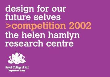DFOFS comp catalogue 2002 - Helen Hamlyn Centre - Royal ...