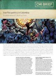Iron fist politics in Colombia - CMI