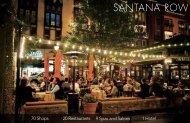 70 Shops 20 Restaurants 9 Spas and Salons 1 Hotel - Santana Row