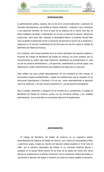 COLEGIO DE BACHILLERES DEL ESTADO DE ... - Cobaev