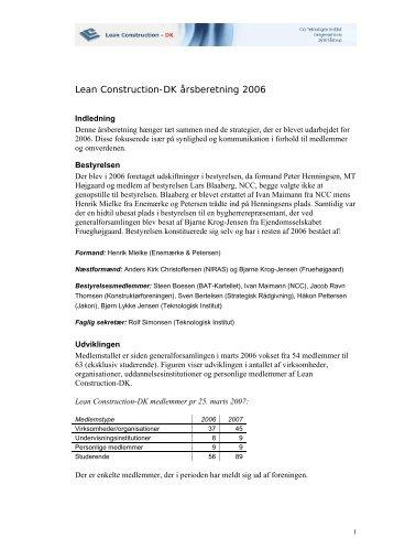 DK's Årsberetning for 2006 - Lean Construction