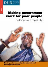 Making government work for poor people - GSDRC