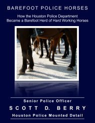 Barefoot Police Horses Article - Think Like A Horse