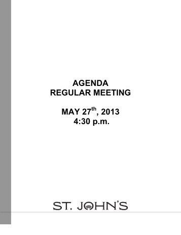 AGENDA REGULAR MEETING MAY 27 , 2013 4 ... - City of St. John's