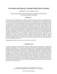 A Procedure and Program to Calculate Shuttle Mask Advantage