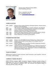 Prof. Dr. Thomas Höfer German Cancer Research Center (DKFZ ...