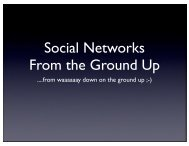 Social Networks From the Ground Up
