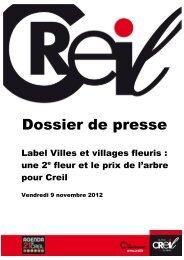 Dossier de presse : Label Villes et villages fleuris ... - Ville de Creil