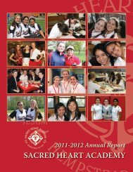 Annual Report - Sacred Heart Academy