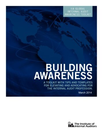 Building Awareness Toolkit - Global Institute of Internal Auditors