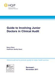 Guide to Involving Junior Doctors in Clinical Audit - HQIP