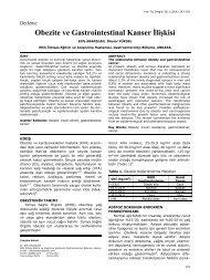 Obezite ve Gastrointestinal Kanser İlişkisi - Yeni Tıp Dergisi