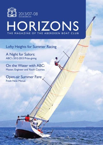Jul - Aug 2013 Issue - the Aberdeen Boat Club