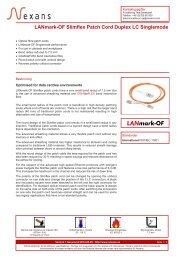 LANmark-OF Slimflex Patch Cord Duplex LC Singlemode - Nexans