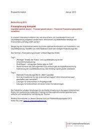Finanzplanung kompakt - SP-Unternehmerforum