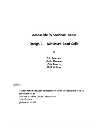 Accessible Wheelchair Scale Design 1 – Miniature Load Cells