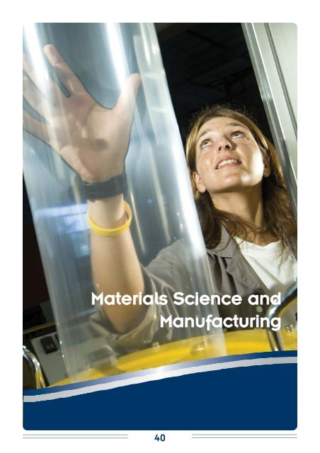 Materials Science and Manufacturing - CSIR