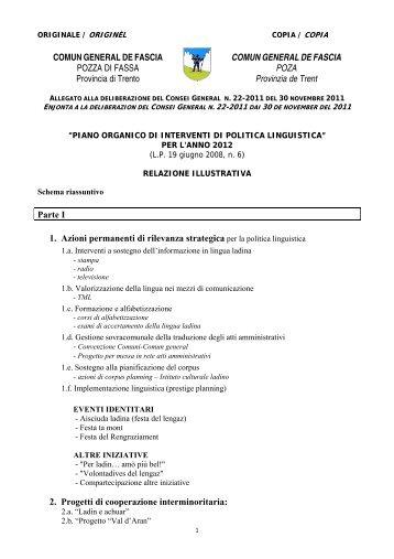 File di Piano Cultura Ladina - Comun General de Fascia