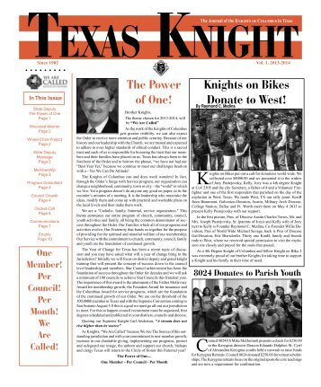 Summer 2013a - Texas Knights of Columbus