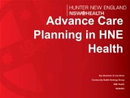 Advance Care Planning in HNE Health - ARCHI