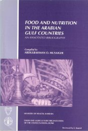 FOOD AND NUTRITION IN THE ARABIAN GULF COUNTRIES