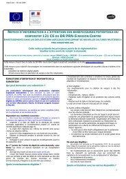notice 121C6 - PRN-090528 - L'Europe s'engage en région Centre