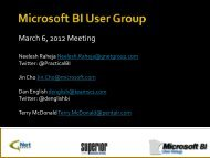 Announcements and Updates March 6 2012.pdf - BI User Group