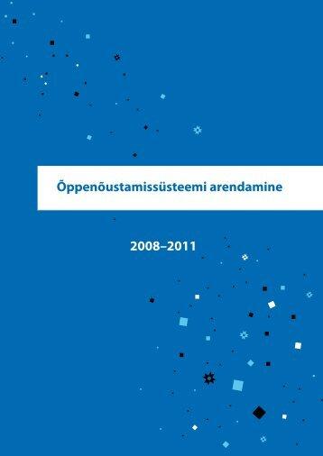"""""""Õppenõustamissüsteemi arendamine"""" 2008- 2011 - Innove"""