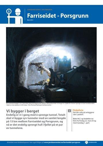 Nyhetsbrev mars 2013 - Jernbaneverket