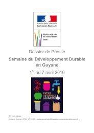Lire le dossier de presse - Région Guyane