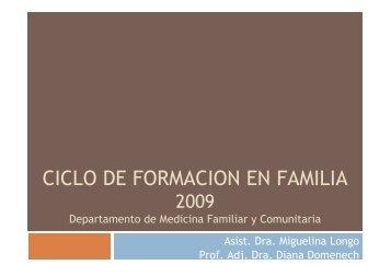 Ciclo Taller 7 - Página de los Residentes de Medicina Familiar y ...