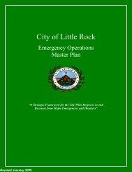 Little Rock Emergency Operations Plan - City of Little Rock