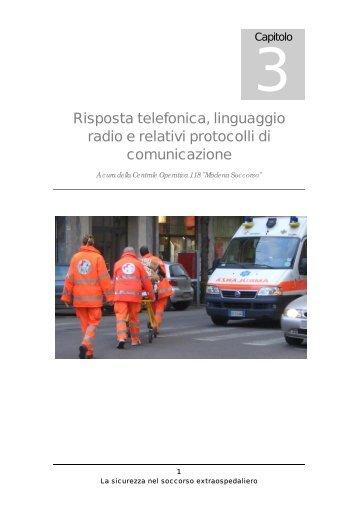 Risposta telefonica, linguaggio radio e relativi protocolli di ...