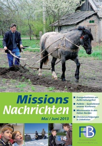Nachrichten 2013-3 - Missionswerk FriedensBote