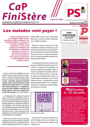 Les malades vont payer ! - Fédération du Finistère du Parti socialiste