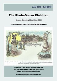 June 2013 / July 2013 (PDF) - Rhein Donau Club - iiNet
